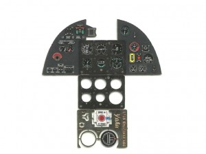 HURRICANE MK.II PHOTOETCHED COLORED INSTRUMENT PANEL TO TRUMPETER