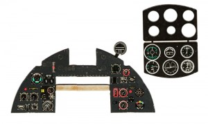 TYPHOON Mk.IB PHOTOETCHED, COLORED INSTRUMENT PANEL TO AIRFIX