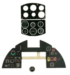 TYPHOON Mk.IB (EARLY) PHOTOETCHED, COLORED INSTRUMENT PANEL TO AIRFIX